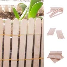 ice cream stick 50pcs intresting natural wooden ice cream stick