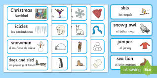 words cards winter word cards winter winter words word