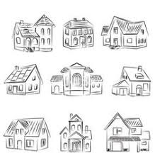 house to draw sketch of art houses for your design vector 957453 by kudryashka