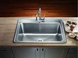 Single Kitchen Sinks by Amazing Stainless Steel Drop In Kitchen Sink Single Bowl Drop In
