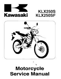 calaméo manual de taller kawasaki klx250 en inglés