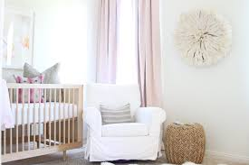 Pink And Gold Baby Bedding Pink And Gold Nursery With Pink Cotton Drapes Transitional