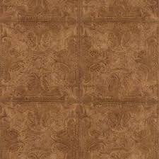 embossed textured copper faux ceiling tile heavy duty wallpaper
