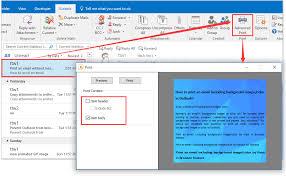 how to add insert watermark in outlook