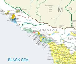map of abkhazia ethnic makeup of abkhazia before after the ethnic cleansing of