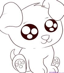 drawn animal cute anime animal pencil and in color drawn animal