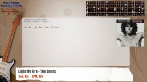 The Doors Light My Fire Lyrics Light My Fire The Doors Guitar Backing Track With Chords And