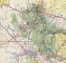 Map Of Phoenix Metro Area by Interstate Guide Interstate 17