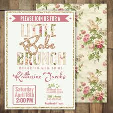 baby shower brunch invitations colors printable chagne brunch baby shower invitations with
