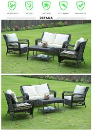 Rattan Settee Furniture 2017 New Hand Weaved Patio Furniture Rattan Sofa And Aluminum