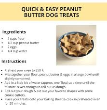 recipe for dog treats easy peanut butter dog treats puppy leaks