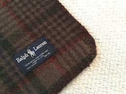 Ralph Lauren Blankets Ralph Lauren 100 Wool Blanket Queen Size 90 X 90 Brown Green