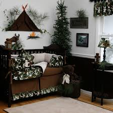 camo crib bedding in kids traditional with brown crib next to