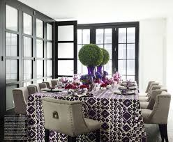 violet dining room interiors by color