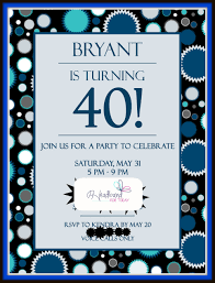 40th birthday invitations 40th birthday invitations wording