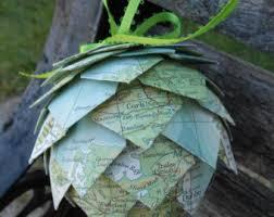 map ornaments etsy