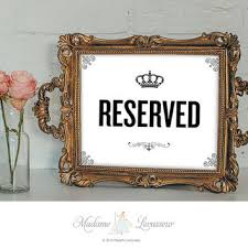 reserved sign printable sign restaurant from madame levasseur on
