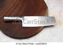 couteau chinois cuisine chinois image découpage closeup board couteau cuisine