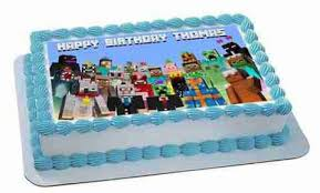 minecraft edible cake topper minecraft characters 5 edible birthday cake topper or cupcake in