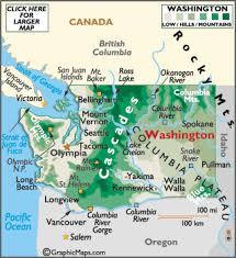 seattle map usa geography of washington world atlas