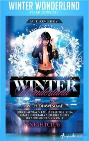 graphicriver winter wonderland flyer template templates4share