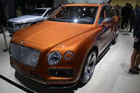 orange bentley interior bentley u0027s posh bentayga suv rolls out in frankfurt