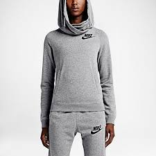nike rally funnel neck pullover women u0027s hoodie u2014 overlapping