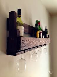 reclaimed wooden wine rack pallet wall hung wine rack glass
