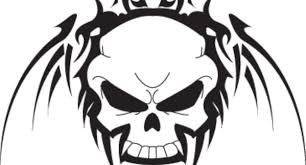 tribal skulls to use on tattoos or designs in computer lytum