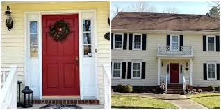 Red Front Doors Front Doors Print Yellow House Front Door Color 145 Yellow House