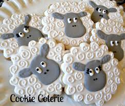 sheep little lamb decorated cookies birthday party baby shower