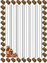 primary lined thanksgiving writing paper writing papers writing