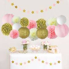 party decorations baby girl shower 1st birthday party decorations kids hot pink and