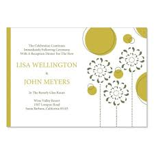 reception cards yellow green reception card templates do it