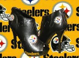 ebay womens boots size 9 steelers high heels pittsburgh steelers shoes platform