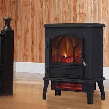 duraflame infrared fireplace 3d flame effect black 4 600 btu
