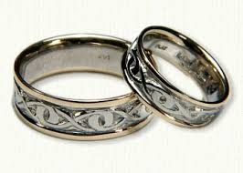 infinity wedding rings custom infinity knot wedding rings white gold platinum by