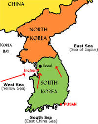 pusan on map mcarthur at inchon publish with glogster