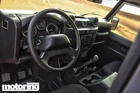 land rover defender interior 2013 land rover defender 90 review motoring middle east car
