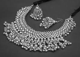 silver plated necklace images Buy german silver silver plated necklace set online JPG