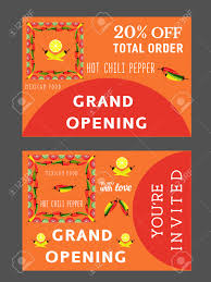 Invitation Card For Grand Opening Set Of Templates For Mexican Restaurant Grand Opening Advertising