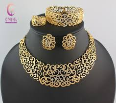 wedding gold set costume jewelry sets gold wedding women bridal