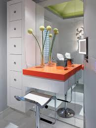 bathroom bathroom with floating makeup table and storage drawer