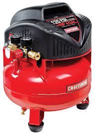 craftsman 4 gallon 0 75 hp oil free pancake air compressor 125 max psi