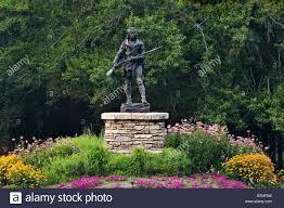Louisville Botanical Gardens by Bronze Statue Of Daniel Boone Louisville Kentucky Stock Photo