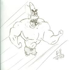 strong patrick star by mexicanmissie on deviantart