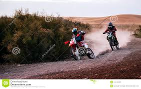 z racing motocross track two scrambler bikes racing on a dirt track stock photo image