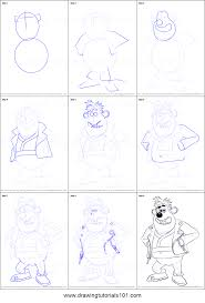 draw sid flushed printable step step drawing