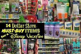 14 dollar store must buy items for a disney vacation cheaps