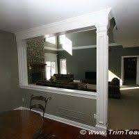 Wall Room Divider by Partial Wall Between Kitchen And Living Room Design Ideas